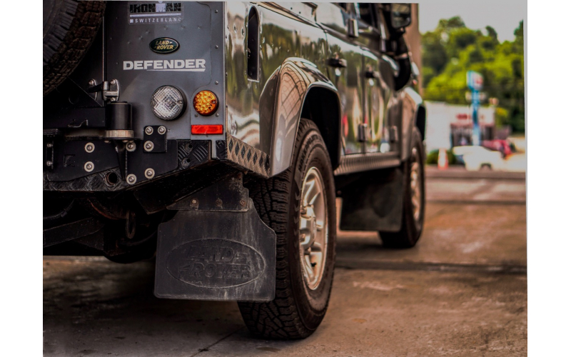 Defender on the Road