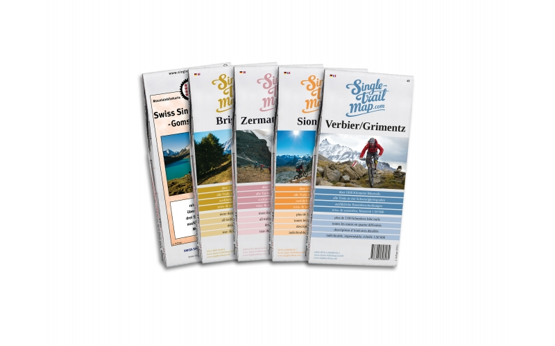 Singletrail Map Kartenset Wallis