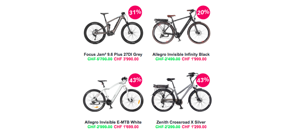 Outlet m-way Bikes