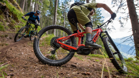 Serpentine mit E-Mountainbike