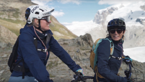 Kathi Kuypers & Mutter Family & Friends Haute Route E-Bike Wallis Zermatt